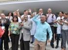Los manifestantes protestaron frente al hospital Salvador B. Gautier.