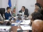 El Observatorio Político Dominicano durante presentación del informe.