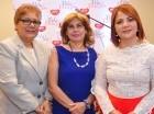 Mayra Melo, Ana Sánchez y Claudia Almonte.