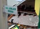 Una iglesia fue parcialmente destruida por el paso de Erika.
