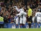 Jugadores del Crystal celebran un gol atnte el Chelsea.
