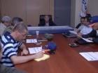 El gerente general de Edesur, Rubén Montás, en una reunión del Comité de Contingencia.