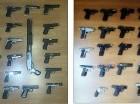 Armas de fuego incautadas por el J-2.