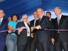 El presidente Danilo Medina al inaugurar una de varias obras en Elías Piña.
