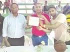 Durante la inauguración del octavo torneo de baloncesto en Tamayo.