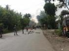 Protestas en en la carretera Villa Mella-Yamasá (imagen cortesía de @JisselMarie).