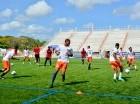 Los entrenamientos de Cibao FC se llevan a cabo en los terrenos de la PUCMM.