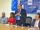 Pelegrín Castillo, primer vicepresidente del FNP, habla durante el acto.
