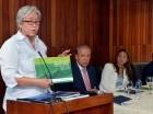 La ministra de Salud durante la presentación de las guías de construcción.