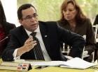 Andrés Navarro durante el encuentro con ministros de Relaciones Exteriores en El Salvador.