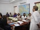 La Dra. Florinda Rojas, expone los alcances del INM RD a las asistentes.