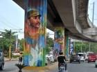 Coloridos murales alusivos a la identidad dominicana y a la promoción de valores y deberes cívicos adornan los espacios públicos del municipio Santo Domingo Norte.