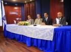 Alejandro Moscoso Segarra, decano de derecho de UNAPEC; Radhamés Mejía, rector; Mariano Rodríguez, presidente del Tribunal Superior Electoral, y Francisco D'Oleo, vice-rector académico de UNAPEC.