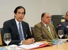 Los ministros Administrativos de la Presidencia, Gustavo Montalvo y de Interior y Policía, Ramón Fadul.