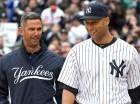 Jorge Posada y Derek Jeter militaron juntos en los Yankees por varios años.