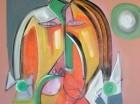 Una de las pinturas que forma parte de la exhibición.