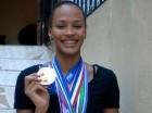 Gaila González muestra con orgullo parte de las medallas conquistadas en certámenes internacionales con las selecciones Sub-20 y Sub-23.