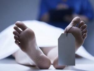 Cadáver en la morgue.