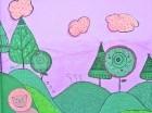 """""""El Jardín"""", uno de los murales realizados por Norkelly."""