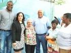 Jaime David Fernández Mirabal y Soterio Ramírez junto a otras personalidades.