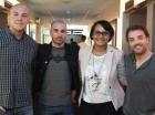 Los directores extranjeros visitaron la redacción de elCaribe en el marco del Festival Internacional de Cine Fine Arts.