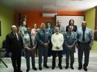 Autoridades del Ministerio de Administración Pública y La Romana Junto a los miembros de la Policía Nacional galardonados.