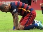 El delantero brasileño Neymar del Barcelona durante el partido contra Sevilla por la liga española