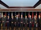 Miembros de países que convinieron un pacto comercial transpacífico.