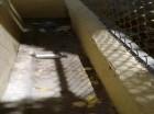 Bomba lacrimógena tras ser lanzada al interior de la escuela Básica Anaima Tejeda, en Barahona.