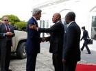 John Kerry se reunió ayer con Michel Martelly en la capital haitiana.