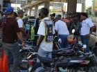 Motoconchistas de las inmediaciones de la parada del Metro Mamá Tingó, en Villa Mella.