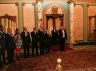Presidente Medina junto a los integrantes del Consejo de Regentes de UTECO.