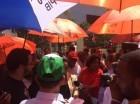 Centrales sindicales demandan varias reivindicaciones frente al Congreso.
