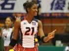Martínez fue la atleta más joven de la Copa del Mundo de Voleibol en Japón.