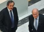 Michel Platini y Joseph Blatter durante una reunión de la Concacaf en mayo de 2013.