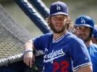 Clayton Kershaw durante las prácticas de los Dodgers de Los Ángeles.