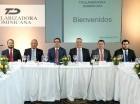 Los principales ejecutivos de Titularizadora Dominicana durante el encuentro.