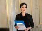 Sara Danius, secretaria permanente de la Academia Sueca, anuncia a Svetlana Alexievich de Bielorrusia como la ganadora del Premio Nobel de literatura 2015, el jueves 8 de octubre del 2015 en la sede de la Academia Real Sueca en Estocolmo.