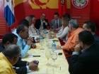 Encuentro de Quique Antún con los candidatos a senadores del PRSC.
