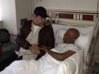 Fernando Villalona visitó en el hospital a su colega Benny Sadel.
