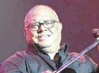 El cantautor cubano Pablo Milanés durante su actuación en el anfiteatro.