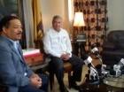 Roberto Rosario y Gonzalo Castillo reunidos ayer en la sede de la Junta.