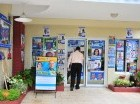 La sede de la ADP se encuentra abarrotada de propaganda electoral.