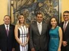 Edigarbo García, María Gabriela Mariné, Luis Bencosme, Bianca Romero y José Sanoja.