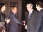 Luis Abinader y el embajador estadounidense James Brewster.