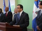 Autoridades de República Dominicana y Haití durante un encuentro en Barahona.