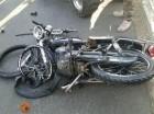 Motocicleta que colisionó con four wheel.