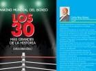 """Portada del libro """"Los 30 más grandes de la historia"""", de Carlos Nina Gómez."""