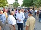 Decenas de manifestantes se concentraron en la calle doctor Delgado.