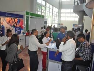 Parte del público que asistió a la Primera Feria de Empleos de este año.